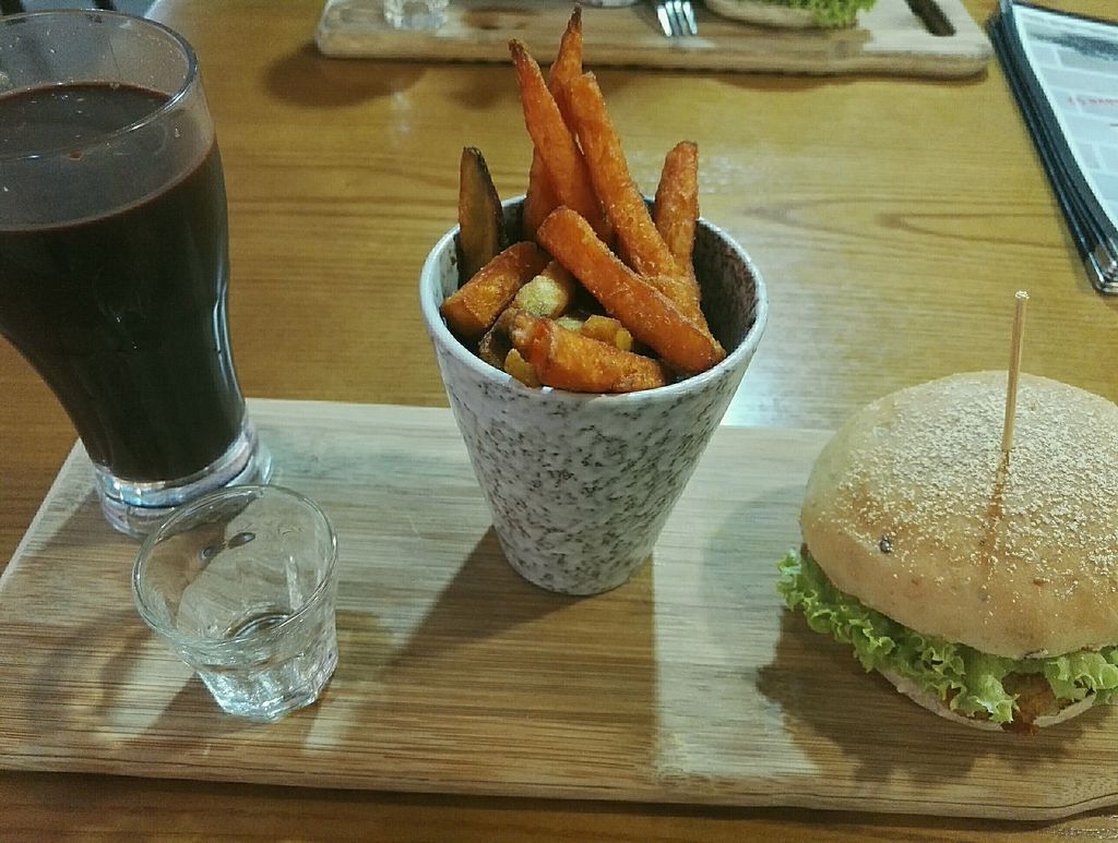 """Photo of NomVnom - Clarke Quay  by <a href=""""/members/profile/lea.1323"""">lea.1323</a> <br/>very tasty QQ Cheezy with delicious mixed sweet potato fries and cinnamon cacao <br/> July 10, 2017  - <a href='/contact/abuse/image/55908/278505'>Report</a>"""