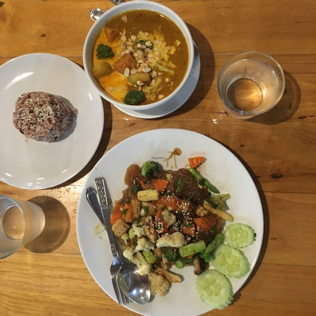 """Photo of La Carotte Qui Rit  by <a href=""""/members/profile/Sammybrack"""">Sammybrack</a> <br/>massamun curry and glass noodles with mushrooms <br/> July 11, 2016  - <a href='/contact/abuse/image/55927/159134'>Report</a>"""
