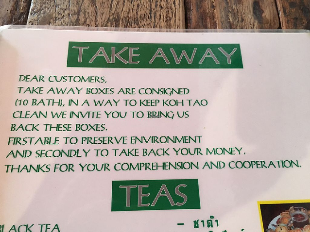 """Photo of La Carotte Qui Rit  by <a href=""""/members/profile/happycyclist"""">happycyclist</a> <br/>awesome take-out policy! <br/> January 15, 2017  - <a href='/contact/abuse/image/55927/212120'>Report</a>"""