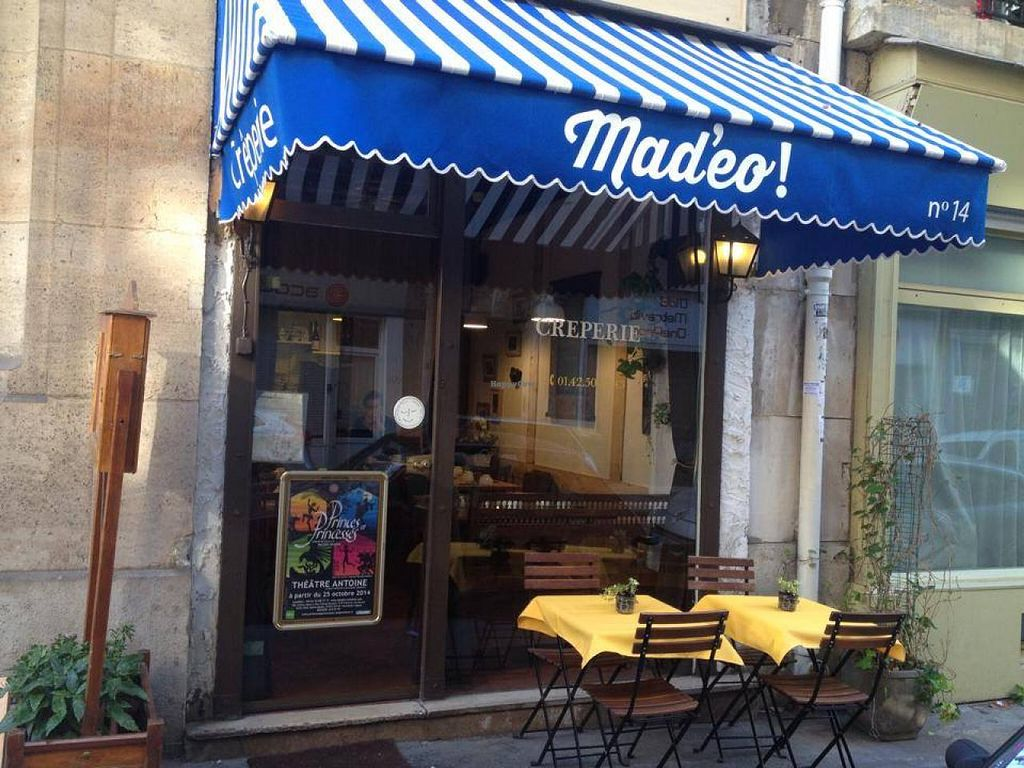 "Photo of Mad'eo  by <a href=""/members/profile/lafollia"">lafollia</a> <br/>Crêperie close to the trade fair <br/> February 25, 2015  - <a href='/contact/abuse/image/55930/94071'>Report</a>"