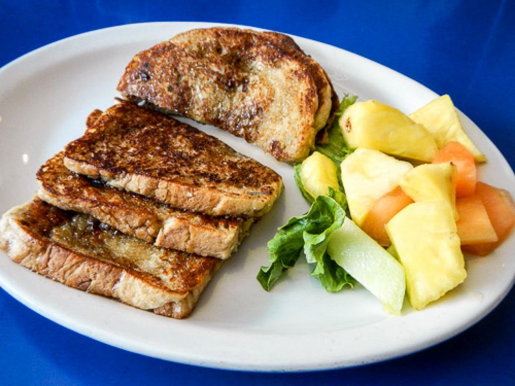 """Photo of Monty's Blue Plate Diner  by <a href=""""/members/profile/EverydayTastiness"""">EverydayTastiness</a> <br/>almond milk french toast <br/> April 24, 2015  - <a href='/contact/abuse/image/5594/100140'>Report</a>"""
