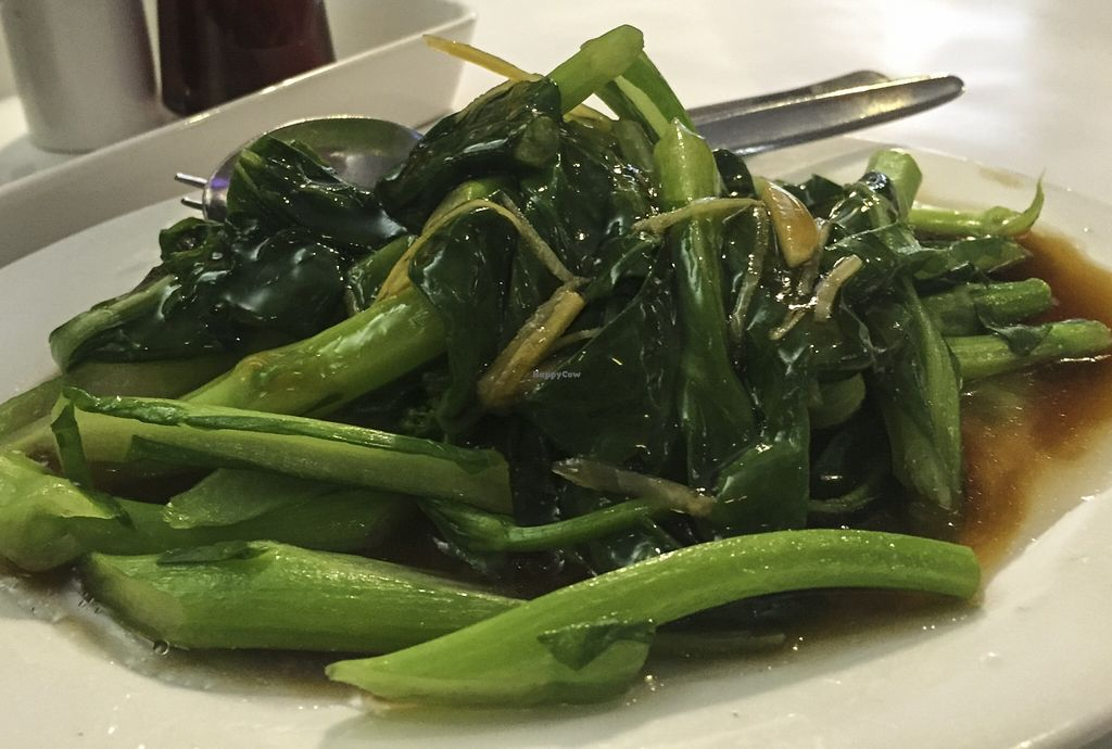 """Photo of Vegie Hut  by <a href=""""/members/profile/karlaess"""">karlaess</a> <br/>Choy-sum in vegie oyster sauce (Yum cha)  <br/> August 27, 2015  - <a href='/contact/abuse/image/5596/115346'>Report</a>"""