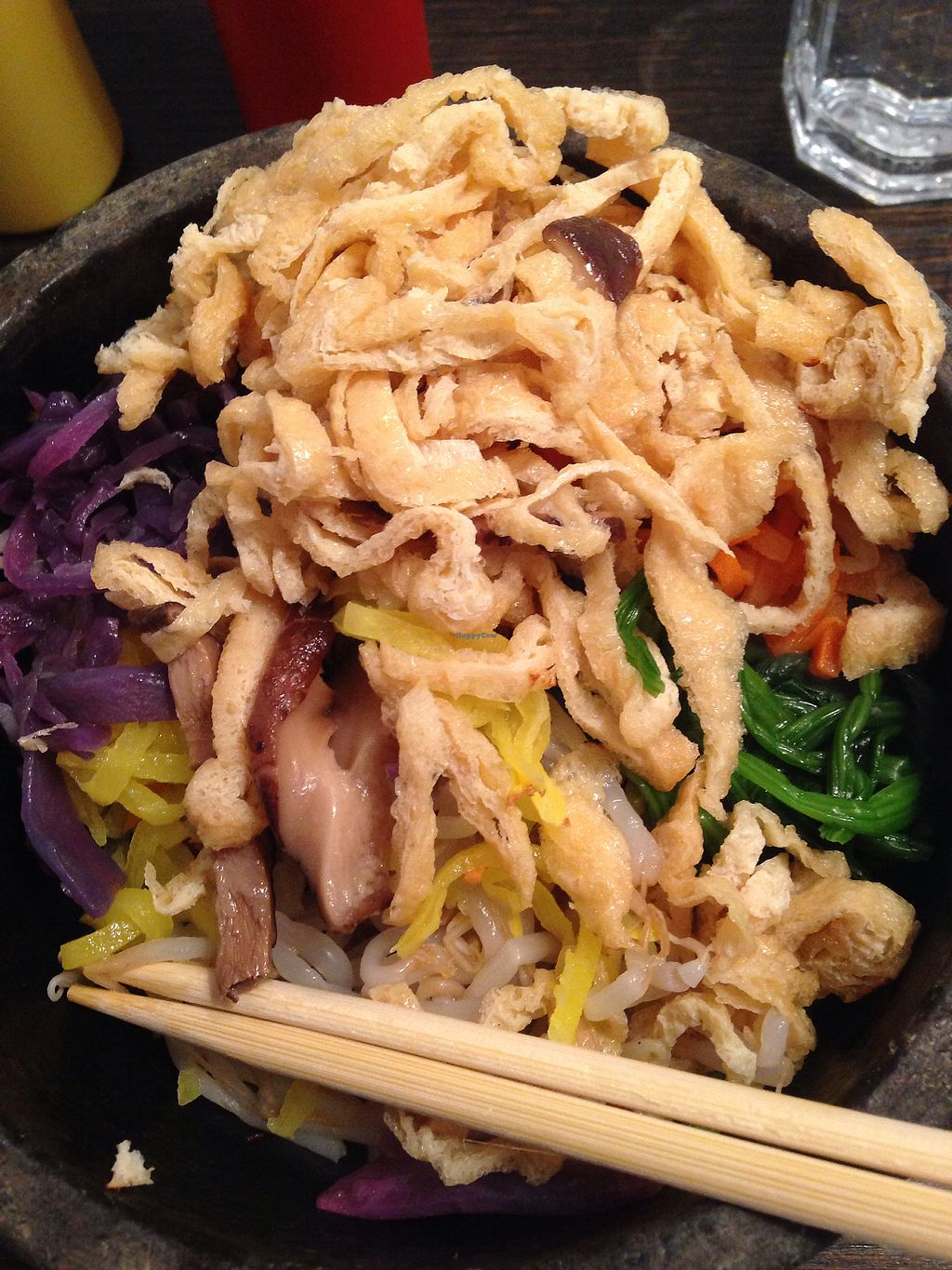 """Photo of Bibimbap Charlotte St  by <a href=""""/members/profile/Bern"""">Bern</a> <br/>Sweet tofu, brown rice & lots of veg for £10 <br/> October 7, 2017  - <a href='/contact/abuse/image/56004/312837'>Report</a>"""
