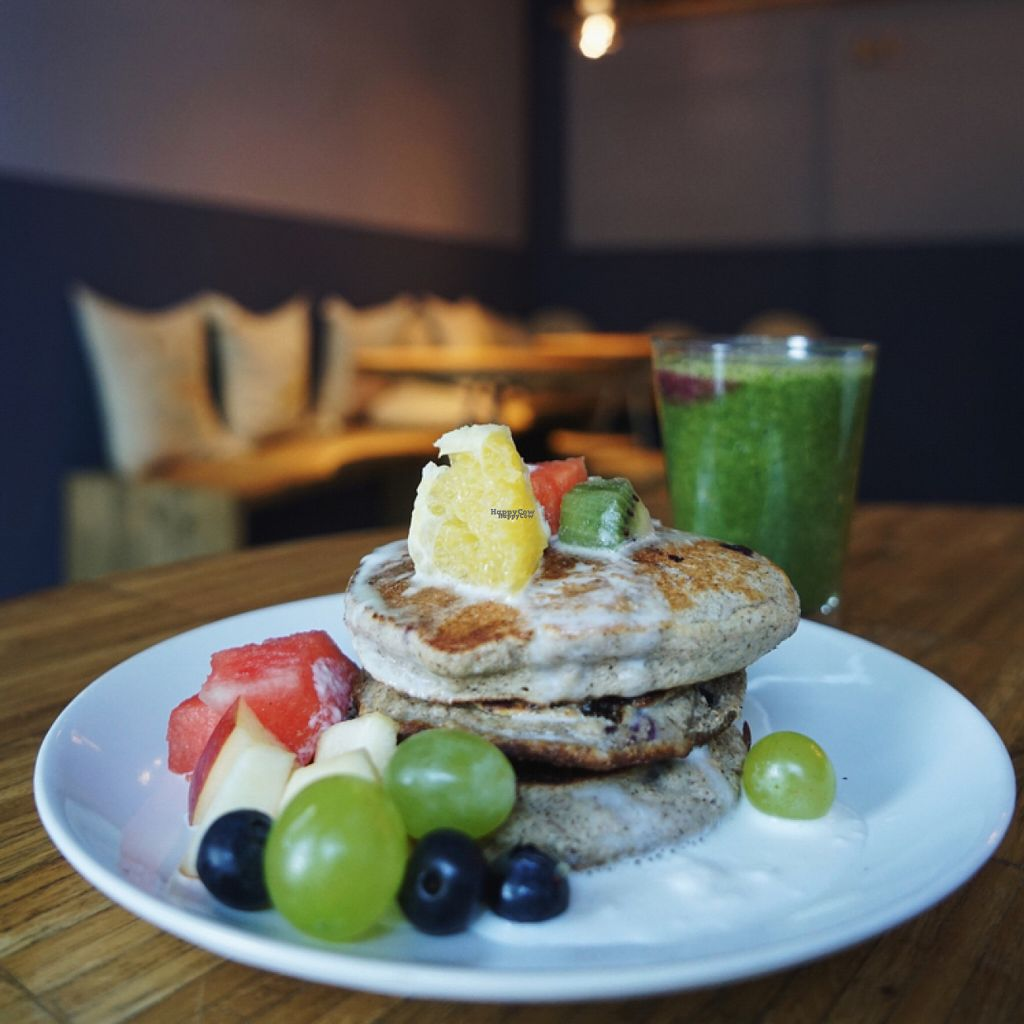 """Photo of Barkett  by <a href=""""/members/profile/sashikka"""">sashikka</a> <br/>Saturday breakfast option: buckwheat-banana pancakes with blueberries  <br/> August 1, 2016  - <a href='/contact/abuse/image/56008/164134'>Report</a>"""