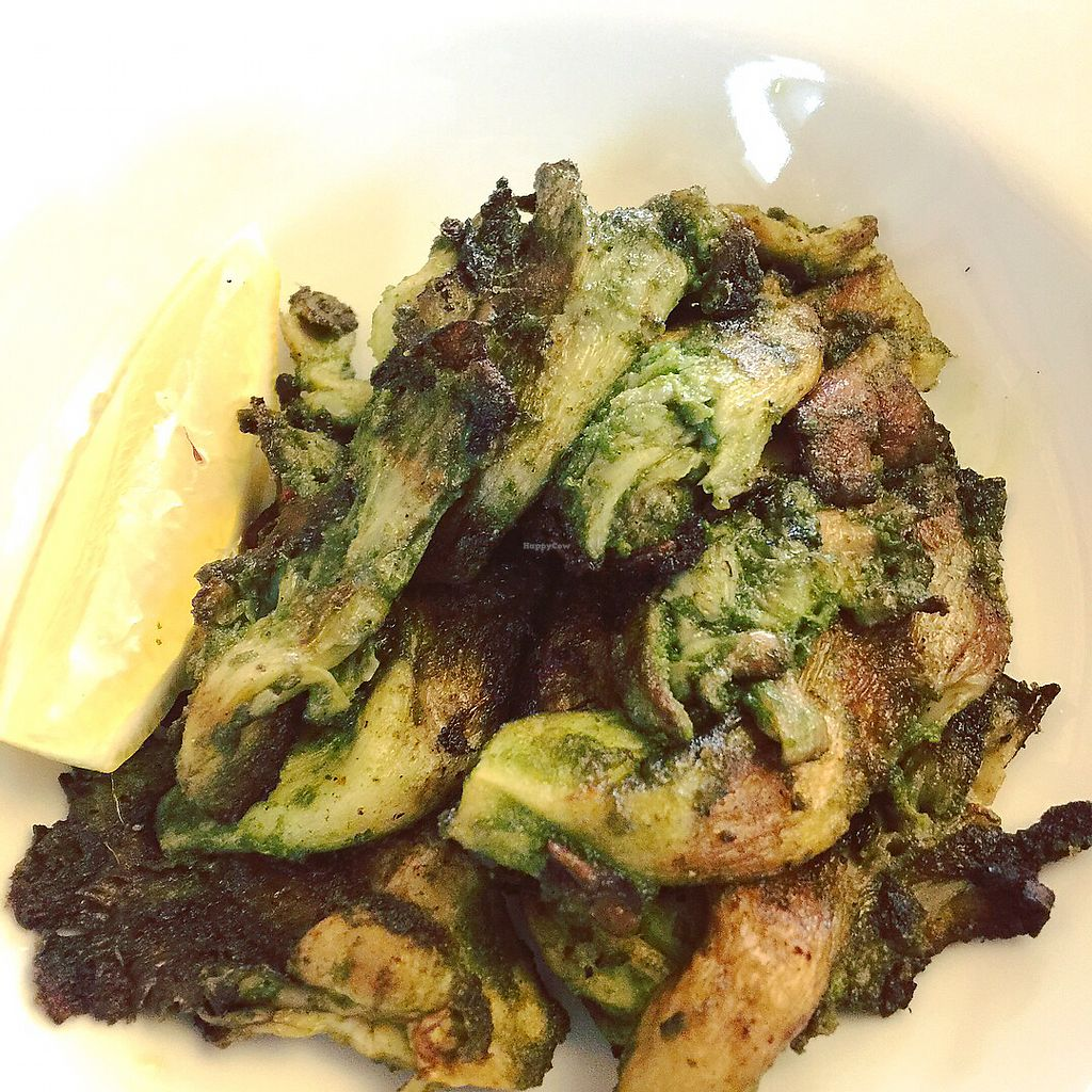 """Photo of Veganized  by <a href=""""/members/profile/AmandaD"""">AmandaD</a> <br/>Marinated and grilled Oyster mushrooms  <br/> March 6, 2018  - <a href='/contact/abuse/image/56009/367304'>Report</a>"""