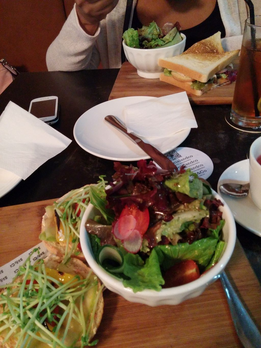 """Photo of Joy Vege - Soodle  by <a href=""""/members/profile/kbcbs616"""">kbcbs616</a> <br/>Delicious Lunch bagel and spring salad Artichoke patties <br/> January 17, 2016  - <a href='/contact/abuse/image/56026/132811'>Report</a>"""