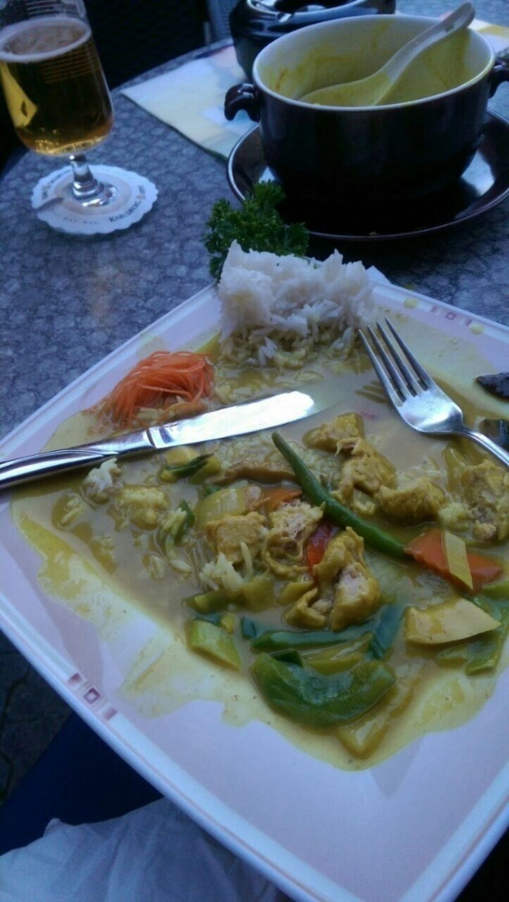 """Photo of Ha Long  by <a href=""""/members/profile/happyowl"""">happyowl</a> <br/>Rice with vegan chicken in curry sauce <br/> August 13, 2016  - <a href='/contact/abuse/image/56030/168289'>Report</a>"""