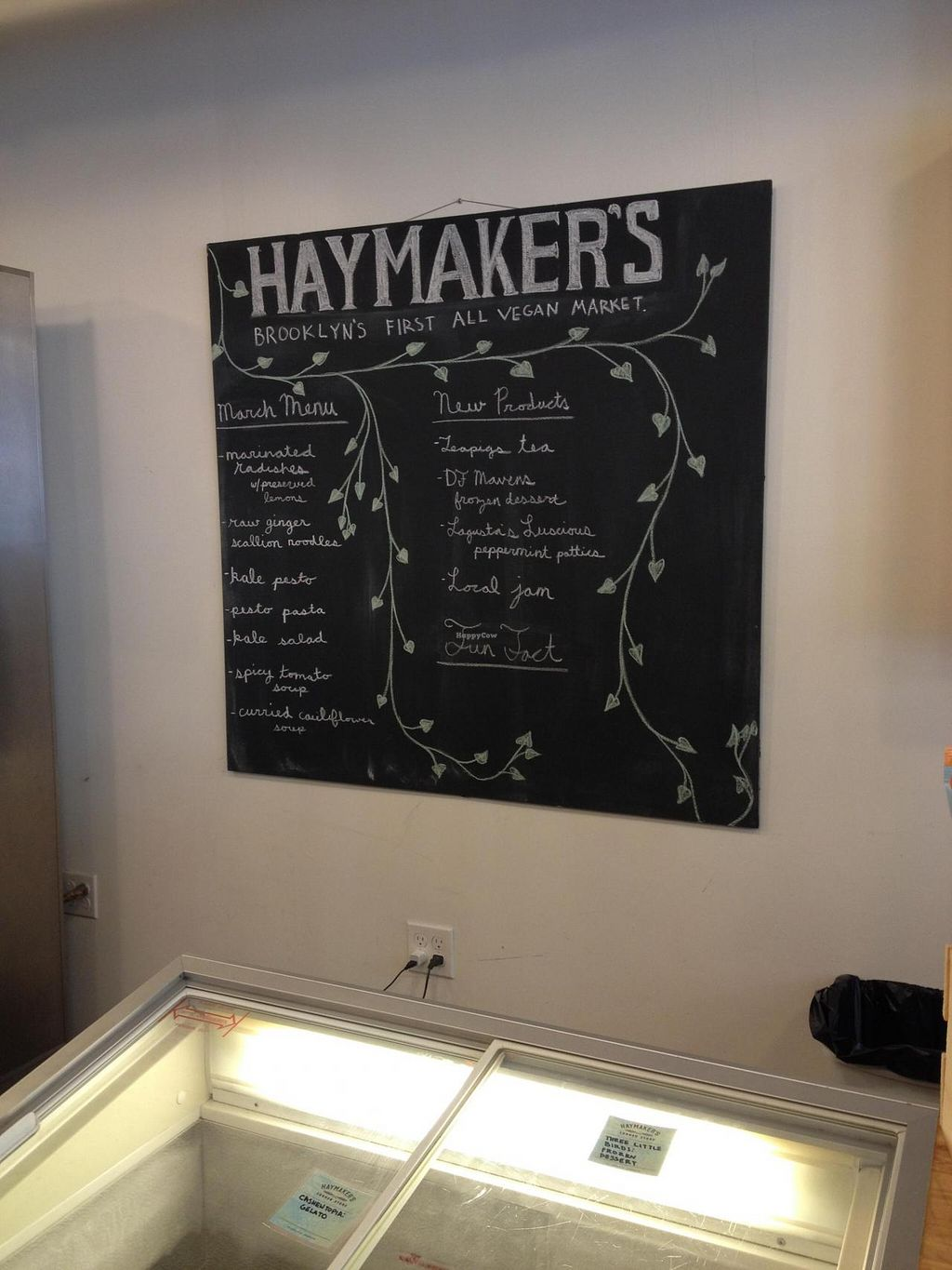 """Photo of CLOSED: Haymaker's Corner Store  by <a href=""""/members/profile/vegan_ryan"""">vegan_ryan</a> <br/>Inside of store / what's new <br/> March 16, 2015  - <a href='/contact/abuse/image/56048/95871'>Report</a>"""