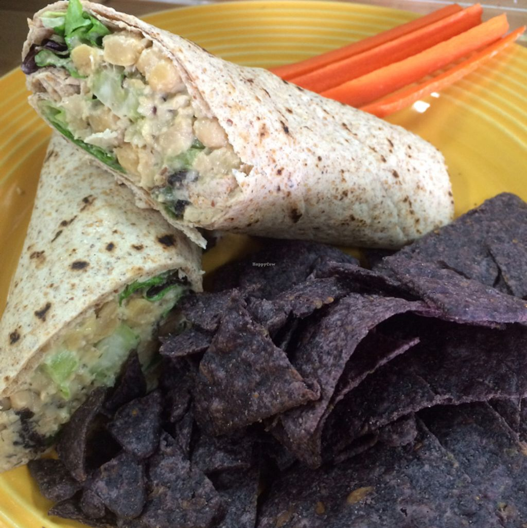 """Photo of The Juice Box  by <a href=""""/members/profile/mariexhb"""">mariexhb</a> <br/>TuNo Chickpea Wrap <br/> July 29, 2016  - <a href='/contact/abuse/image/56086/163129'>Report</a>"""
