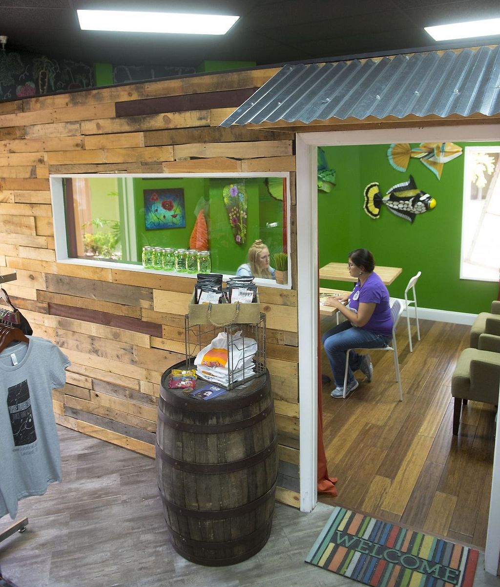"""Photo of The Juice Box  by <a href=""""/members/profile/meganlewman"""">meganlewman</a> <br/>The Green Room - a seating area and showcase for local artists <br/> June 17, 2015  - <a href='/contact/abuse/image/56086/196477'>Report</a>"""