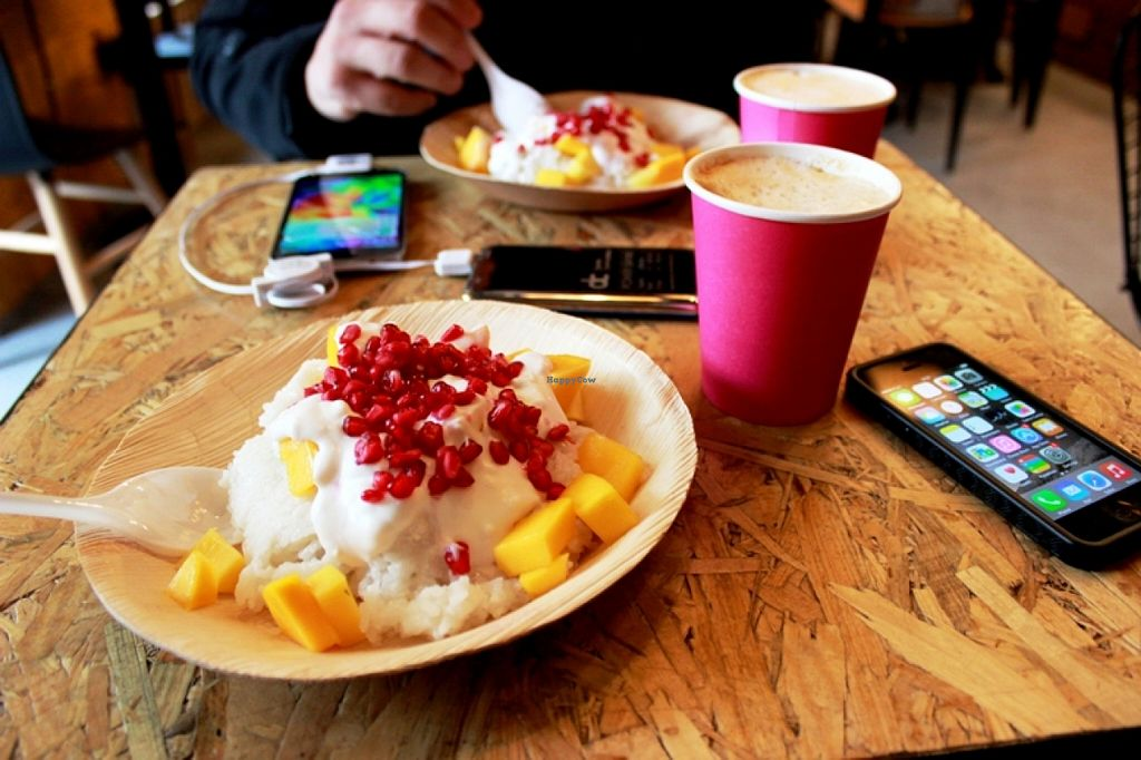"""Photo of Mango Vegan Street Food - Bracka  by <a href=""""/members/profile/SueClesh"""">SueClesh</a> <br/>mango sticky rice <br/> September 17, 2015  - <a href='/contact/abuse/image/56119/118084'>Report</a>"""