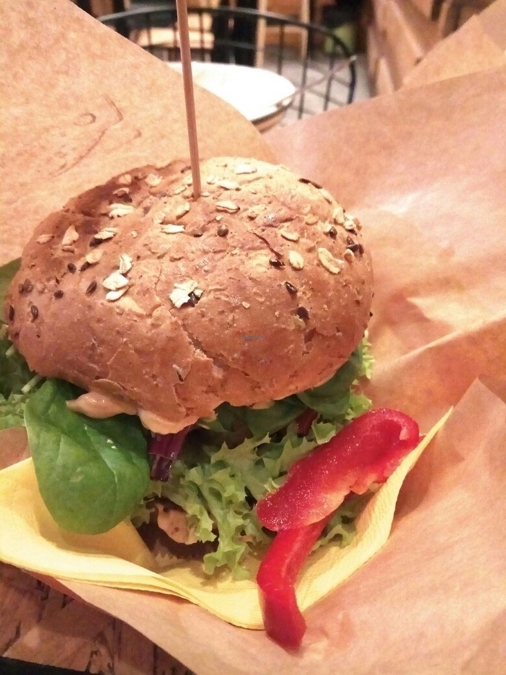 "Photo of Mango Vegan Street Food - Bracka  by <a href=""/members/profile/MosheSamuel"">MosheSamuel</a> <br/>arabica burger <br/> May 12, 2017  - <a href='/contact/abuse/image/56119/258005'>Report</a>"