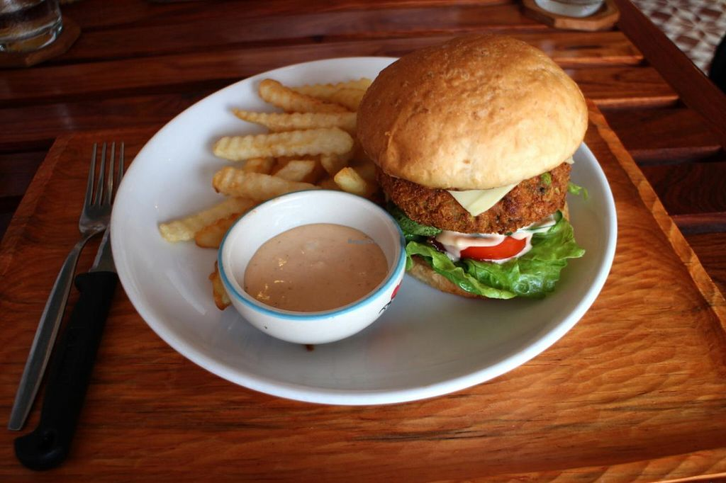 "Photo of Lin's Cafe  by <a href=""/members/profile/sunny%2A"">sunny*</a> <br/>Veggie burger <br/> March 3, 2015  - <a href='/contact/abuse/image/56166/94789'>Report</a>"