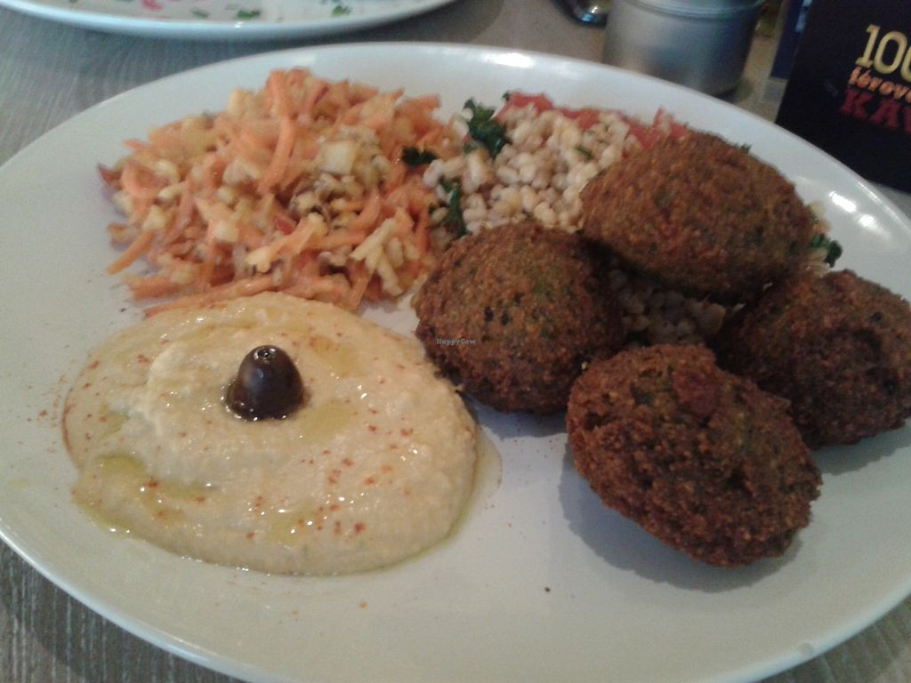 """Photo of Veggie Garden  by <a href=""""/members/profile/Tereza-soucitne.cz"""">Tereza-soucitne.cz</a> <br/>Falafel with a hummus and tabouleh <br/> January 16, 2016  - <a href='/contact/abuse/image/56175/132546'>Report</a>"""