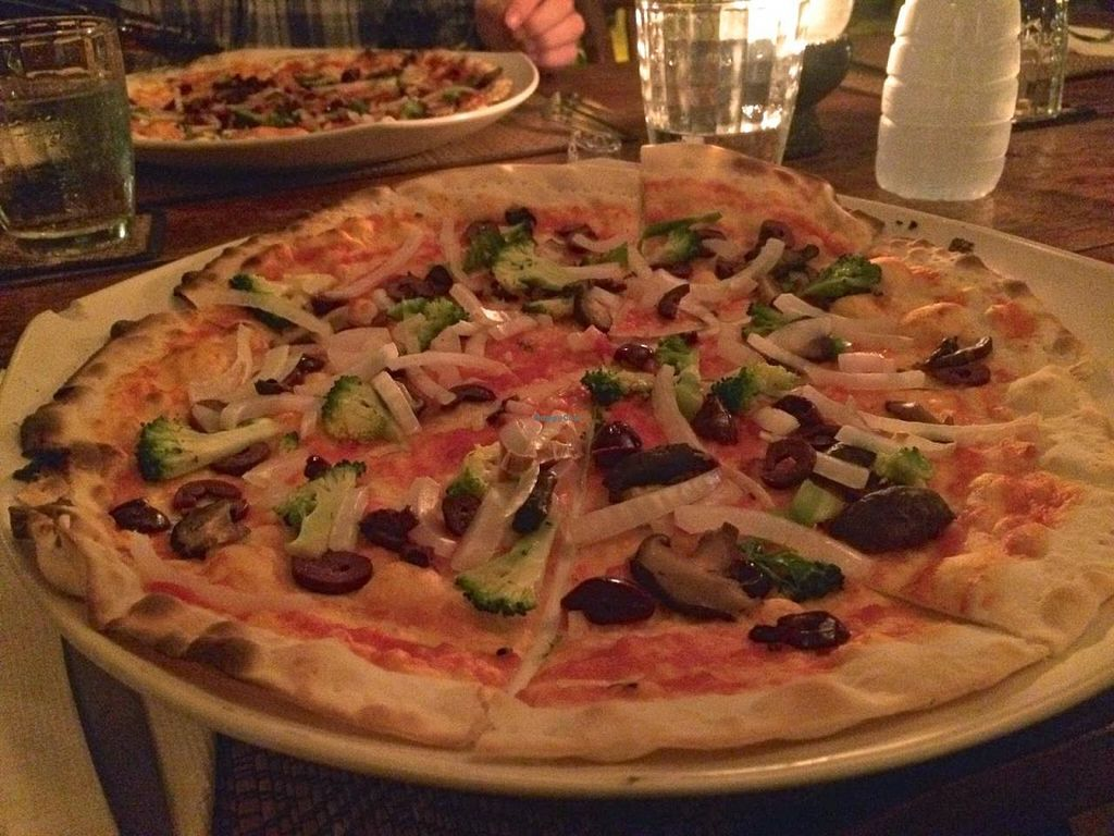 """Photo of La Luna Pizzeria  by <a href=""""/members/profile/jojoinbrighton"""">jojoinbrighton</a> <br/>Cheeseless Veggie Pizza <br/> March 3, 2015  - <a href='/contact/abuse/image/56179/94776'>Report</a>"""