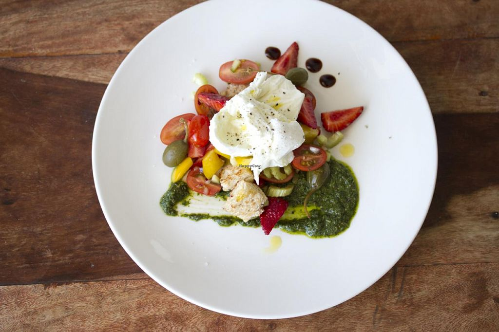"""Photo of CLOSED: The Dandylion Bondi  by <a href=""""/members/profile/Dandylion"""">Dandylion</a> <br/>Strawberry Panzanella Salad <br/> March 4, 2015  - <a href='/contact/abuse/image/56209/94907'>Report</a>"""