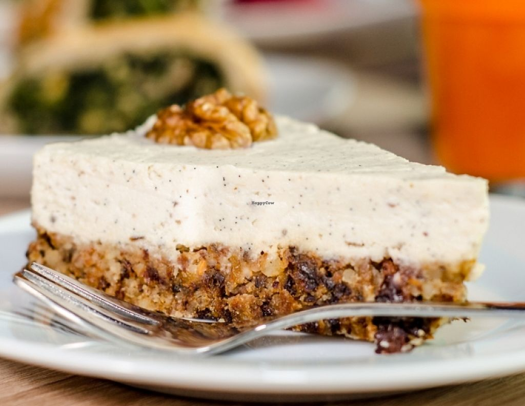 """Photo of Veg Life - Westend Gate  by <a href=""""/members/profile/Bibi"""">Bibi</a> <br/>delicious vanilla raw cheesecake in Veg life <br/> May 12, 2016  - <a href='/contact/abuse/image/56225/243672'>Report</a>"""