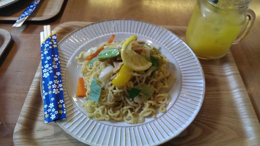 """Photo of Sekai Cafe - Asakusa  by <a href=""""/members/profile/DanielH"""">DanielH</a> <br/>soymeat udon <br/> June 6, 2015  - <a href='/contact/abuse/image/56252/104930'>Report</a>"""