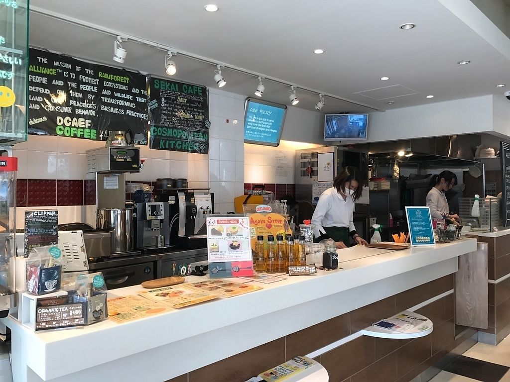 """Photo of Sekai Cafe - Asakusa  by <a href=""""/members/profile/Kevtool"""">Kevtool</a> <br/>Bar/kitchen <br/> March 11, 2017  - <a href='/contact/abuse/image/56252/235034'>Report</a>"""