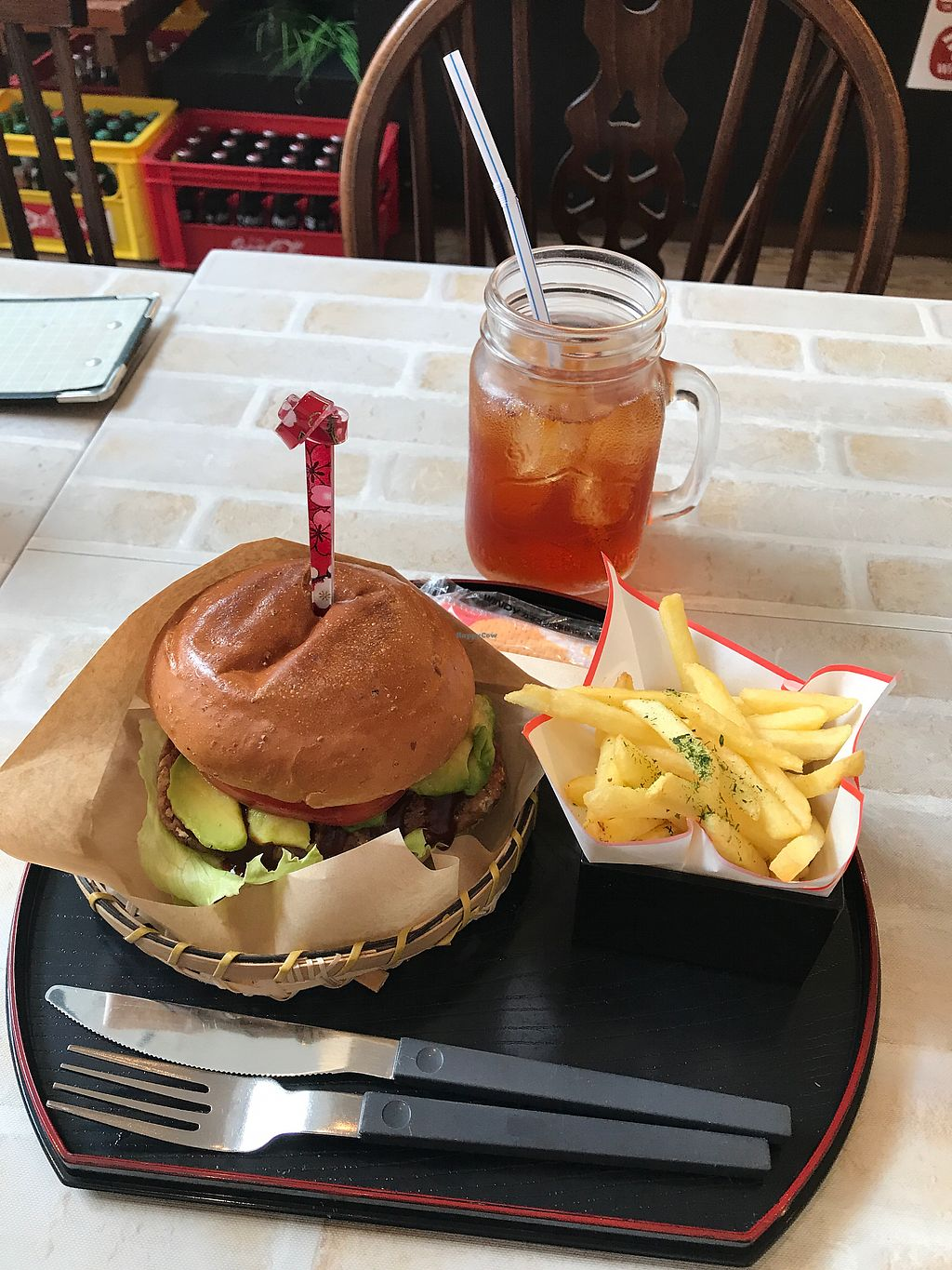 """Photo of Sekai Cafe - Asakusa  by <a href=""""/members/profile/assilemel"""">assilemel</a> <br/>Veg burger <br/> August 31, 2017  - <a href='/contact/abuse/image/56252/299259'>Report</a>"""