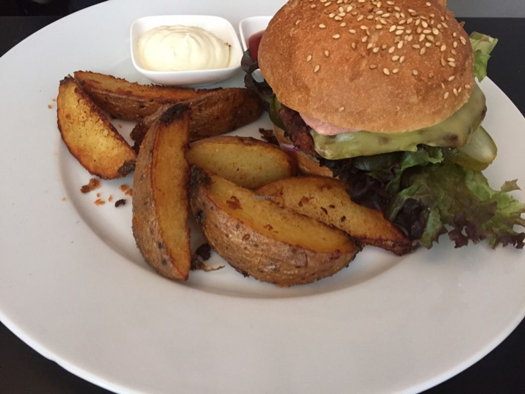 """Photo of CLOSED: Jakobs  by <a href=""""/members/profile/MeganGrahamEscobar"""">MeganGrahamEscobar</a> <br/>Black Bean Burger <br/> July 9, 2016  - <a href='/contact/abuse/image/56270/158681'>Report</a>"""