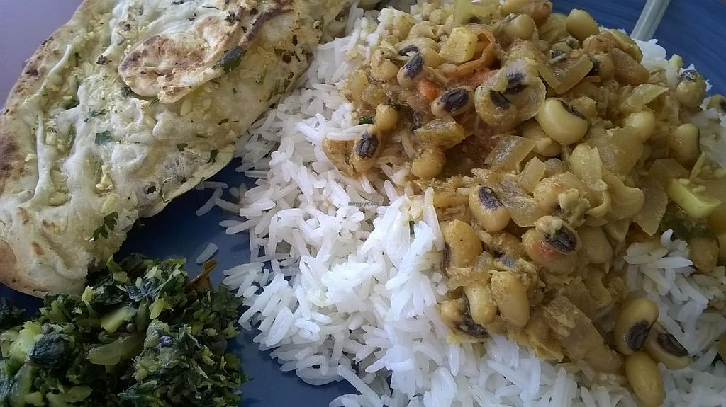 Photo of CLOSED: Karma Coffee House  by Navegante <br/>Black eyed pea dish with naan, July 2015 <br/> July 19, 2015  - <a href='/contact/abuse/image/56275/109929'>Report</a>