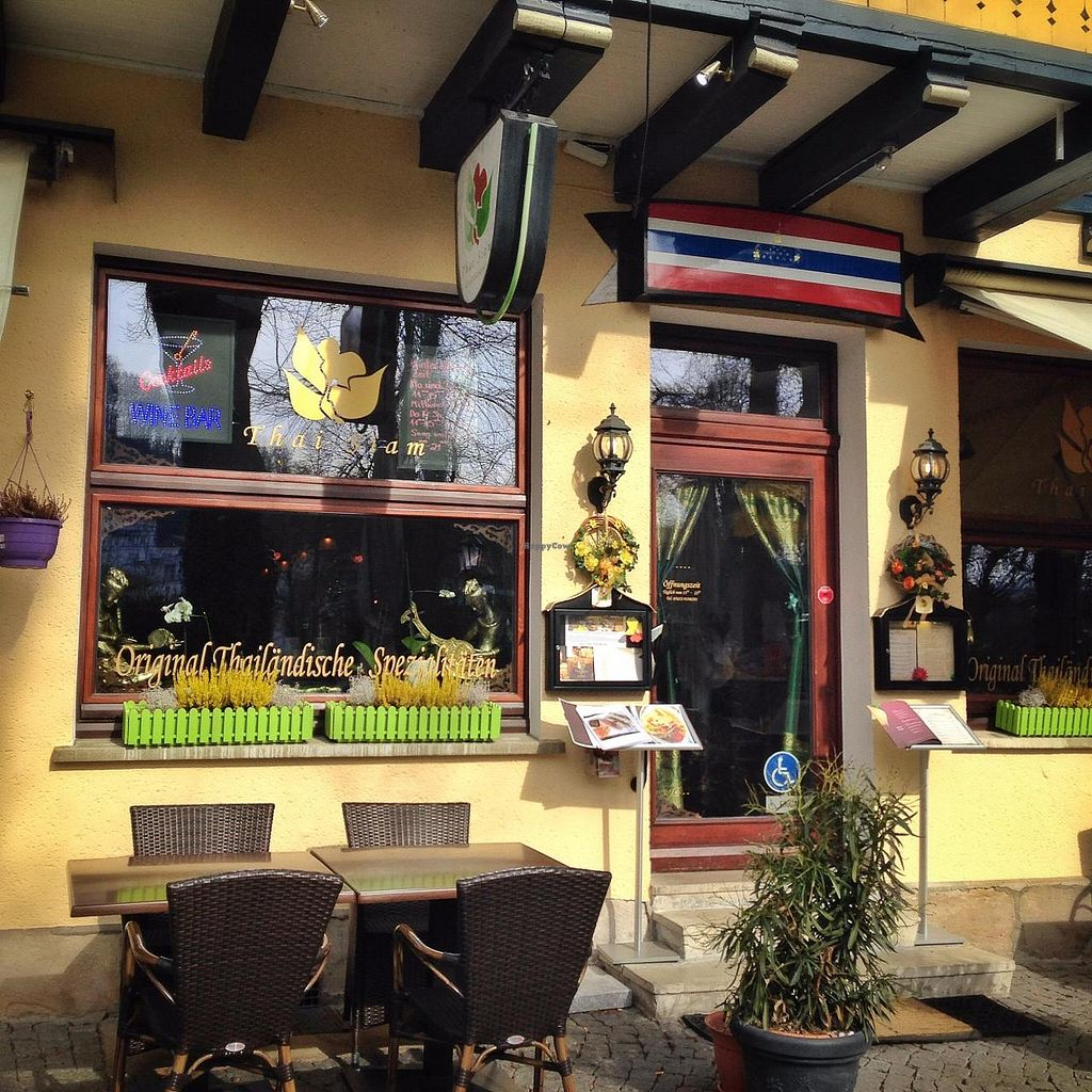 """Photo of Thai Siam - Living Thailand  by <a href=""""/members/profile/MangoTango"""">MangoTango</a> <br/>Outside the restaurant <br/> March 8, 2015  - <a href='/contact/abuse/image/56292/95185'>Report</a>"""