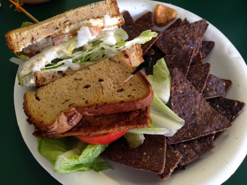 """Photo of Farmacy Health Bar  by <a href=""""/members/profile/whiteflare"""">whiteflare</a> <br/>Farmacy sandwich - such well marinated tofu and the sauce! just make it awesome :) <br/> November 4, 2015  - <a href='/contact/abuse/image/56303/123887'>Report</a>"""