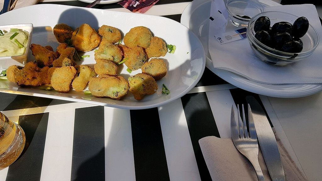 "Photo of Marcelino Beach Club  by <a href=""/members/profile/vaz"">vaz</a> <br/>tempura broccoli and olives <br/> April 2, 2018  - <a href='/contact/abuse/image/56323/379914'>Report</a>"