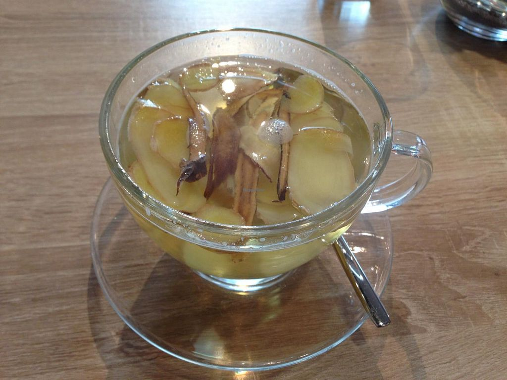 "Photo of HanoiDeli  by <a href=""/members/profile/Pamina"">Pamina</a> <br/>Ginger and licorice tea @ HanoiDeli, Hamburg <br/> March 10, 2015  - <a href='/contact/abuse/image/56353/95391'>Report</a>"