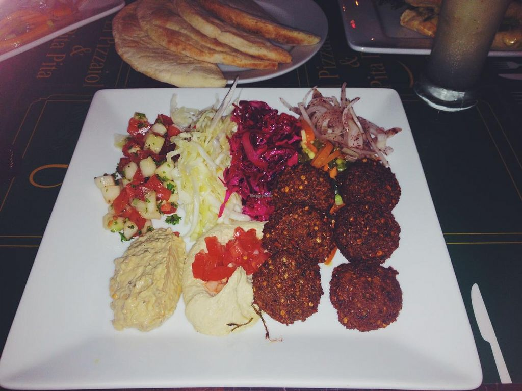 "Photo of Pita Pita in El Pizzaiole  by <a href=""/members/profile/MO.MARIEL"">MO.MARIEL</a> <br/>Falafel plate vegan style: with babaganoush instead of tzaziki.  <br/> March 10, 2015  - <a href='/contact/abuse/image/56369/95395'>Report</a>"