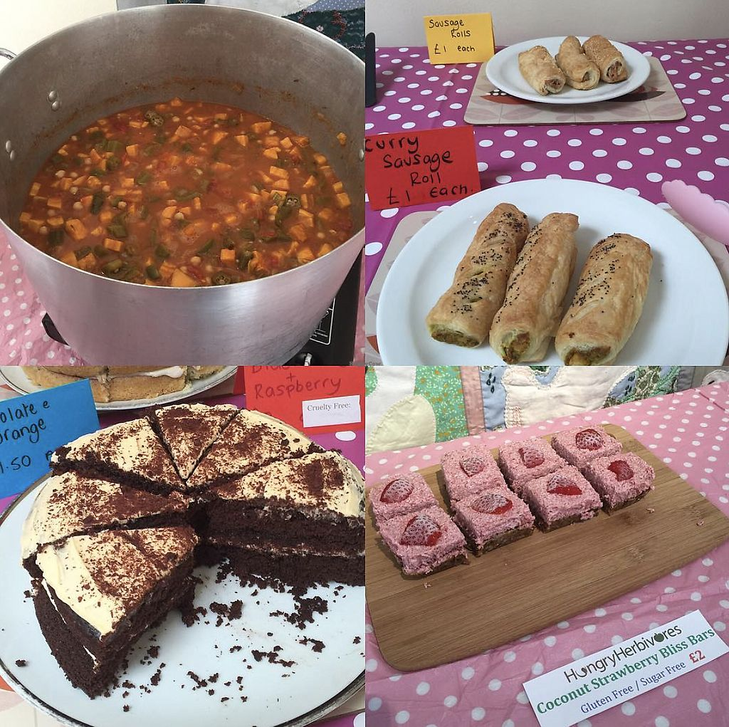 "Photo of Norwich Vegans  by <a href=""/members/profile/TheAccessibleVegan"">TheAccessibleVegan</a> <br/>Curry, sos rolls, cake and raw cake <br/> August 8, 2017  - <a href='/contact/abuse/image/56394/290540'>Report</a>"