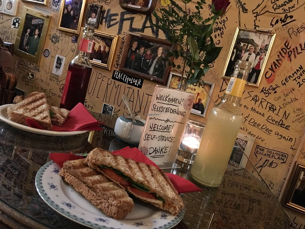 """Photo of Ramones Museum Berlin  by <a href=""""/members/profile/marky_mark"""">marky_mark</a> <br/>Sandwiches, autographs & tasty lemonades ;)   <br/> October 22, 2015  - <a href='/contact/abuse/image/56423/122136'>Report</a>"""
