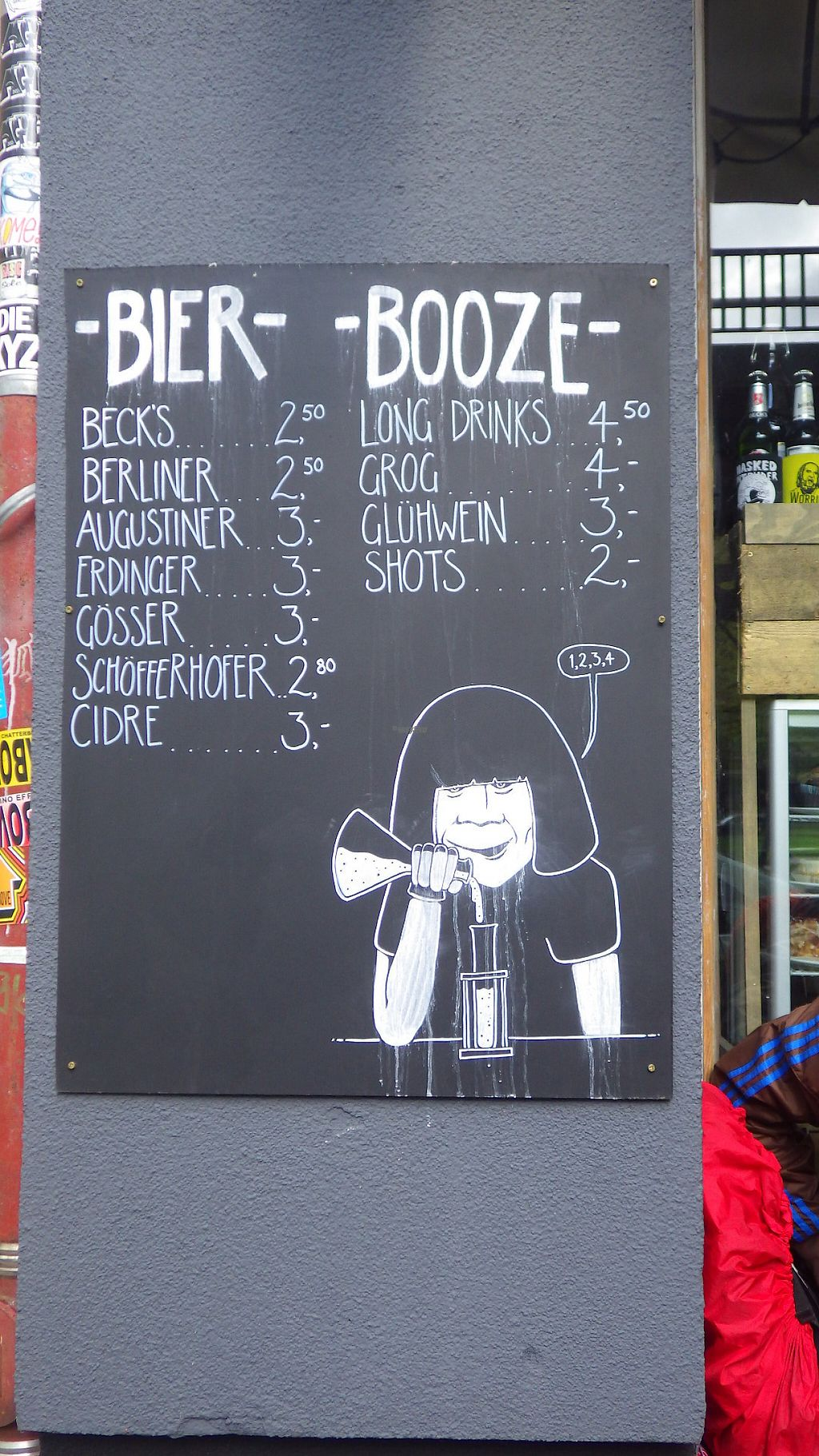 """Photo of Ramones Museum Berlin  by <a href=""""/members/profile/deadpledge"""">deadpledge</a> <br/>Beer menu <br/> April 22, 2017  - <a href='/contact/abuse/image/56423/250886'>Report</a>"""