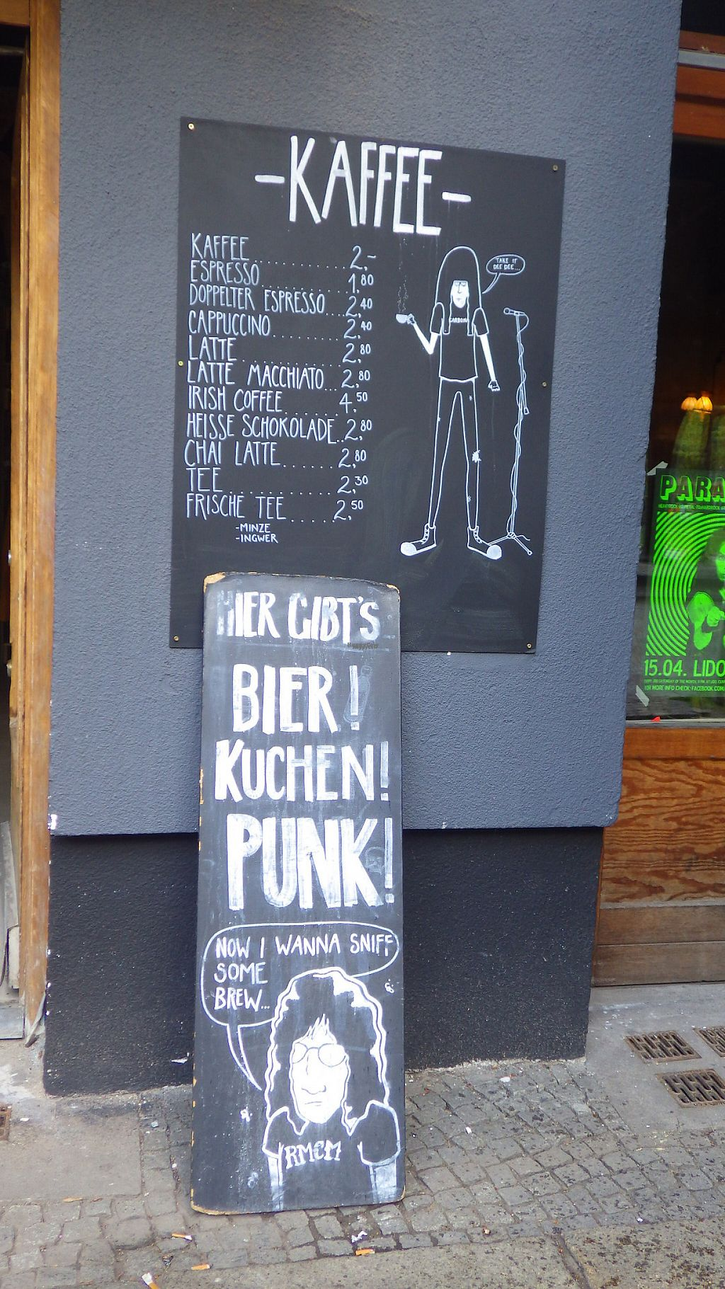 "Photo of Ramones Museum Berlin  by <a href=""/members/profile/deadpledge"">deadpledge</a> <br/>Coffee menu <br/> April 22, 2017  - <a href='/contact/abuse/image/56423/250887'>Report</a>"