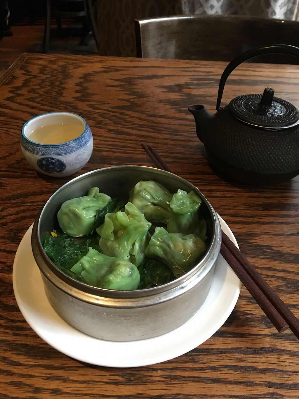 """Photo of LuAnne's Wild Ginger  by <a href=""""/members/profile/JJones315"""">JJones315</a> <br/>Veggie shu mai and Greetings jasmine tea  <br/> February 6, 2018  - <a href='/contact/abuse/image/5642/355706'>Report</a>"""