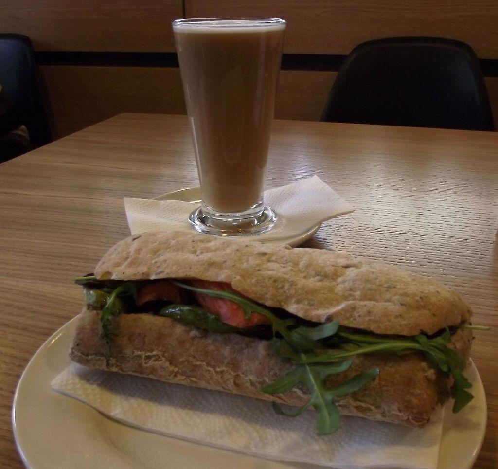"Photo of Green Deli Cafe - Rakovski  by <a href=""/members/profile/Joanna%20Karatsaneva"">Joanna Karatsaneva</a> <br/>Vegan sandwich and cafe latte - vegan <br/> March 13, 2015  - <a href='/contact/abuse/image/56431/235542'>Report</a>"