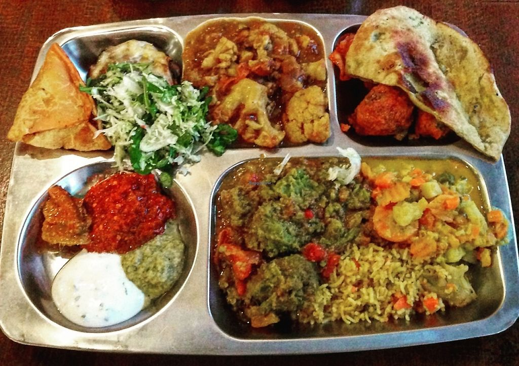 """Photo of Thali - Mileticova  by <a href=""""/members/profile/krck"""">krck</a> <br/>nearly 2kg of delicious vegan/vegetarian food <br/> January 31, 2016  - <a href='/contact/abuse/image/56438/243657'>Report</a>"""