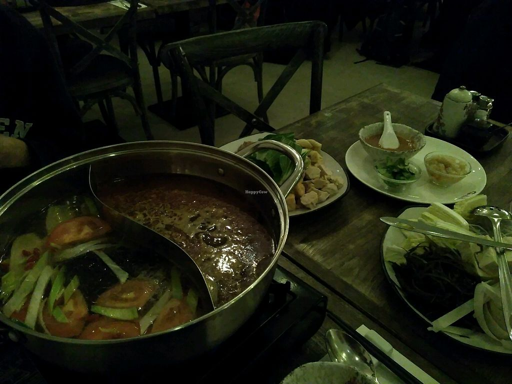 """Photo of Tianfuzius  by <a href=""""/members/profile/EmmyVD"""">EmmyVD</a> <br/>hotpot - with too much delicious food to fit on our table or in our bellies :) <br/> February 2, 2018  - <a href='/contact/abuse/image/56442/354133'>Report</a>"""