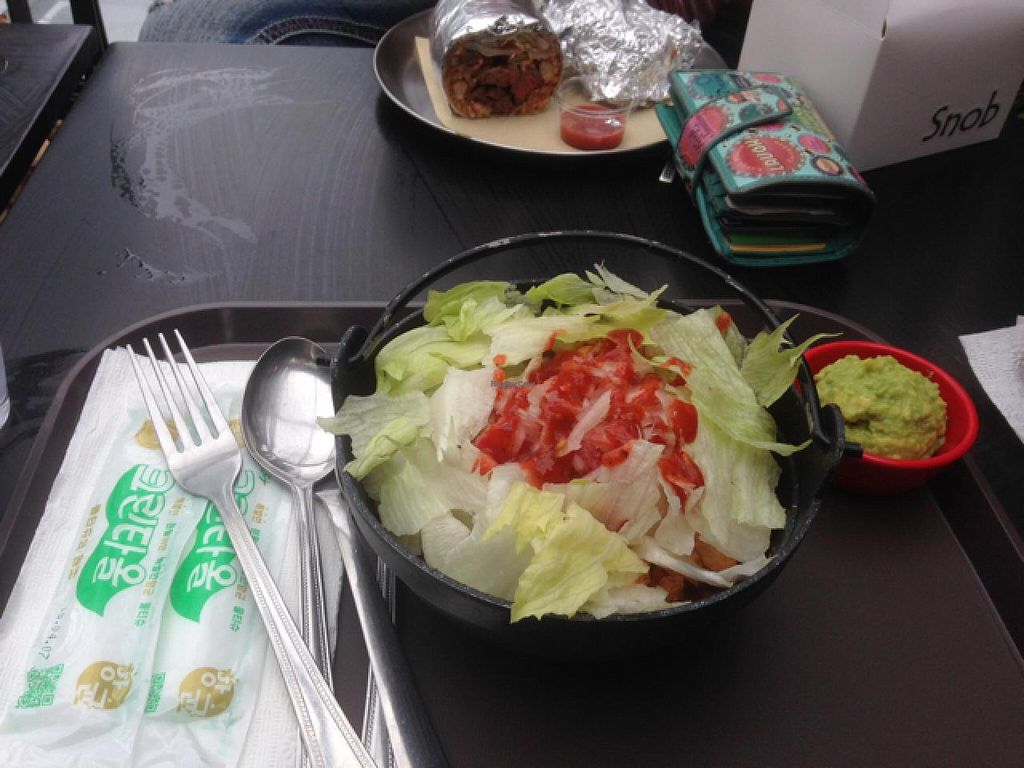 "Photo of Gusto Taco - 구스토 타코  by <a href=""/members/profile/pinkcatmints"">pinkcatmints</a> <br/>Mucho Burrito Bowl - Tofu with Guacomole (tofu, beans, and rice are hidden beneath) <br/> May 2, 2015  - <a href='/contact/abuse/image/56448/100960'>Report</a>"