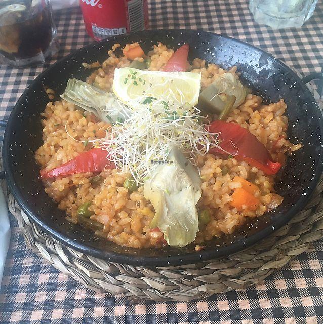 "Photo of Vegetalia - Placa George Orwell  by <a href=""/members/profile/Tonivegan"">Tonivegan</a> <br/>vegetable paella  <br/> June 12, 2017  - <a href='/contact/abuse/image/5645/268509'>Report</a>"