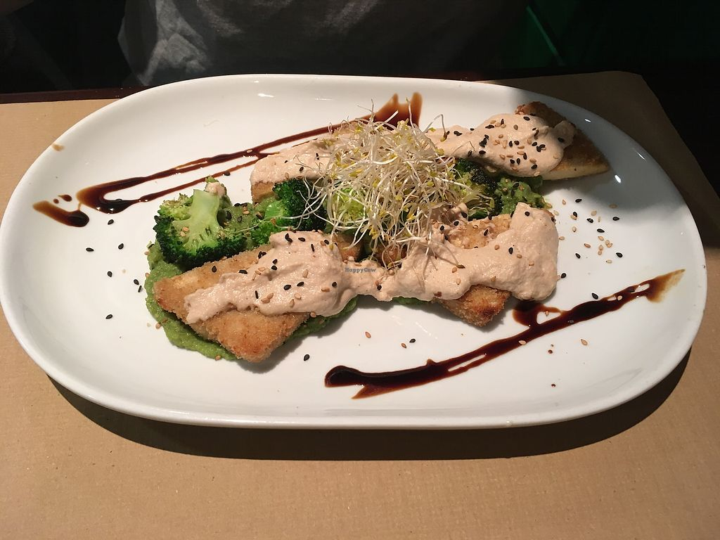 "Photo of Vegetalia - Placa George Orwell  by <a href=""/members/profile/LilianaJure%C4%8Dkov%C3%A1"">LilianaJurečková</a> <br/>Fried tofu with broccoli and nut sauce <br/> December 23, 2017  - <a href='/contact/abuse/image/5645/338420'>Report</a>"