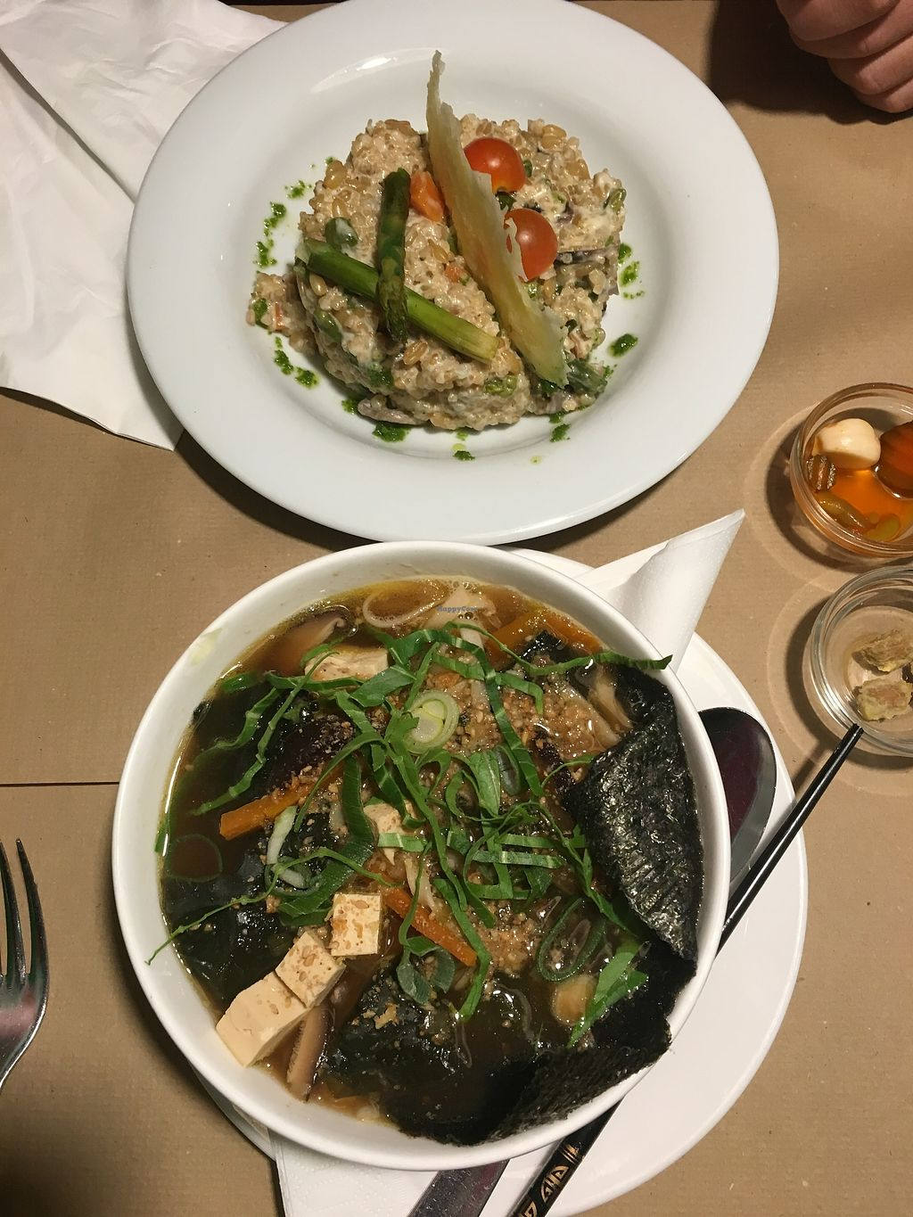 "Photo of Vegetalia - Placa George Orwell  by <a href=""/members/profile/imendes"">imendes</a> <br/>Risotto and  vegan Ramen Soup <br/> January 11, 2018  - <a href='/contact/abuse/image/5645/345499'>Report</a>"