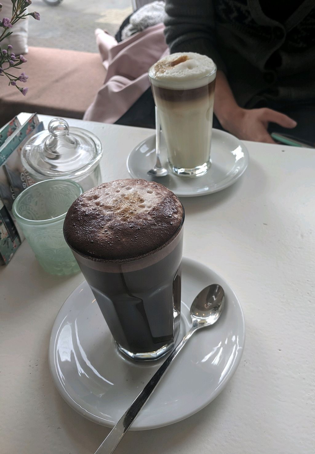 """Photo of Pennycakes  by <a href=""""/members/profile/mitcharf"""">mitcharf</a> <br/>Dark chocolate latte and latte macchiato <br/> October 23, 2017  - <a href='/contact/abuse/image/56478/317952'>Report</a>"""