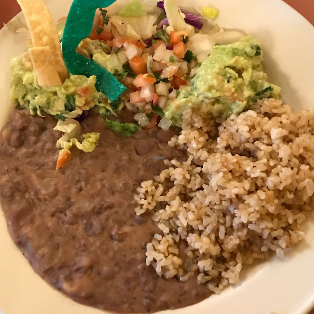 """Photo of Don Jose's  by <a href=""""/members/profile/Sarah%20P"""">Sarah P</a> <br/>brown rice, refried beans, pico, guac <br/> January 30, 2017  - <a href='/contact/abuse/image/56506/219478'>Report</a>"""