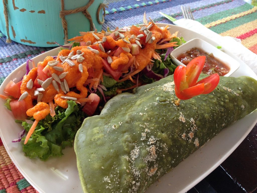 """Photo of Karma Kafe  by <a href=""""/members/profile/SusanRoberts"""">SusanRoberts</a> <br/>Karma Cafe, Karma burrito <br/> January 6, 2016  - <a href='/contact/abuse/image/56514/131341'>Report</a>"""