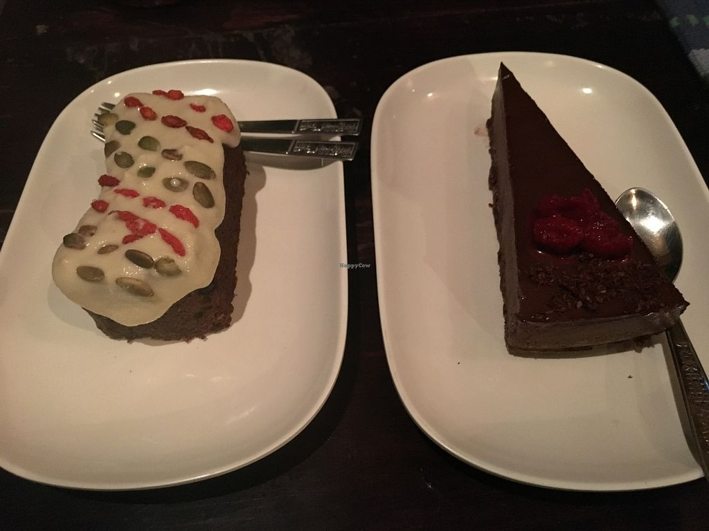 Photo of Karma Kafe  by lantern <br/>Silly Rabbit carrot cake & Raw Chocolate Pie <br/> March 20, 2016  - <a href='/contact/abuse/image/56514/140714'>Report</a>