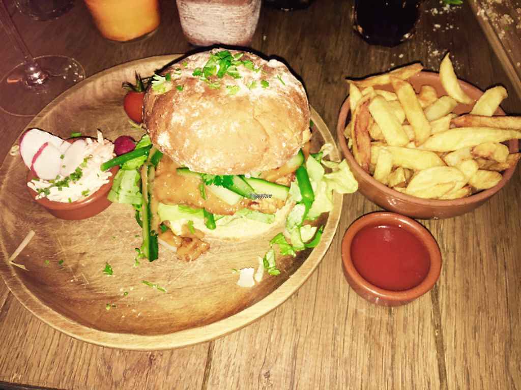 """Photo of Burgerlijk  by <a href=""""/members/profile/VeganDooby"""">VeganDooby</a> <br/>Tempeh burger <br/> February 21, 2017  - <a href='/contact/abuse/image/56556/228876'>Report</a>"""