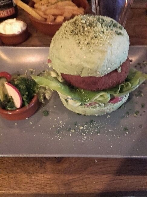 """Photo of Burgerlijk  by <a href=""""/members/profile/kaisatanas"""">kaisatanas</a> <br/>Seaweed burger with hummus instead of mayo <br/> July 10, 2017  - <a href='/contact/abuse/image/56556/278654'>Report</a>"""