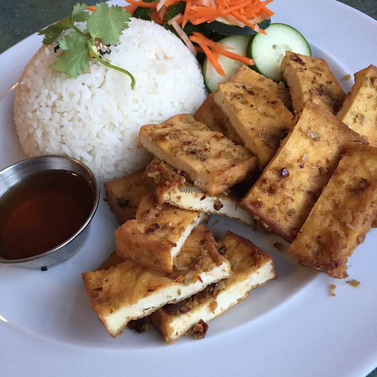 "Photo of All Chay  by <a href=""/members/profile/electricmayhem"">electricmayhem</a> <br/>Lemongrass Tofu with Rice <br/> August 28, 2016  - <a href='/contact/abuse/image/56569/171881'>Report</a>"